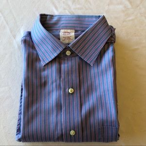 Brooks Brothers men's striped button down shirt